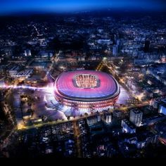 Barcelona unveil new images and videos for their re-designed stadium - the New Camp Nou! Videos and images of the New Camp Nou. Camp Nou Barcelona, Barcelona Hotel, Barcelona Spain, Barcelona Football Stadium, Soccer Stadium, Football Stadiums, Uk Football, Ac Milan, Barca News