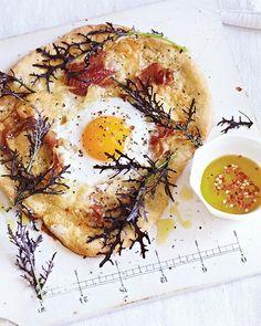 Duck Egg, Asiago & Pancetta Pizza