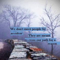 We don't meet people by accident. They are meant to cross our path for a reason (Lessons Learned in Life) Good Quotes, Life Quotes Love, Famous Quotes, Quotes To Live By, Inspirational Quotes, Awesome Quotes, Motivational Quotes, Meaningful Quotes, Life Sayings
