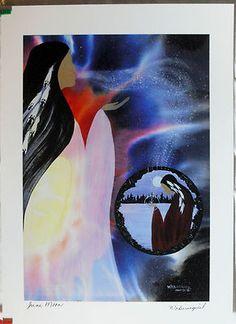 $29.99 Native Spiritual Art Print-June Moon by Wabimeguil (Betty Albert-Lincez)
