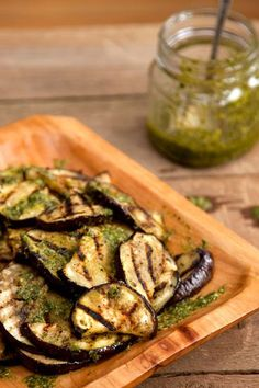 Grilled Eggplant with Basil Vinaigrette by saveur