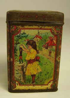 Living Vintage, Cottage Art, Vintage Tins, Tin Boxes, Mug Cup, Decorative Boxes, Ebay, Canning, Mugs