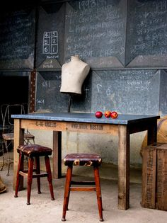 Quirky Interiors- a unique blend of quirky interiors and vintage industrial furniture, specializing in aged zc surfaces for furniture.... Craft room idea