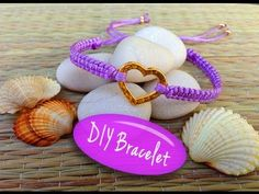 ▶ DIY Bracelet! Bracelet Making Tutorial with String and a Heart Charm - YouTube