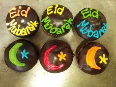 Eid Mubarak themed Wicked Chocolate cupcakes by Charly's Bakery, via Flickr
