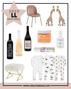 Click here to see the best small businesses to shop from this holiday season on Life Lutzurious! You can shop the variety of products including onesies baby girl and best red wines. You can also shop these nice beauty products and essential oils for your oil diffuser. These items also happen to make great gift ideas for women. Be sure to add these nice living room chairs and ottomans in living room as well. #smallbusiness #shop #products