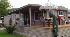 The Best Mobile Home Remodel EVER! - See more at Mobile Manufactured Home Living… Mobile Home Redo, Mobile Home Porch, Mobile Home Repair, Mobile Home Makeovers, Mobile Home Living, Mobile Home Decorating, Home And Living, Decorating Ideas, Rv Living