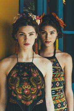 roupas inspiradas em frida kahlo - Pesquisa Google