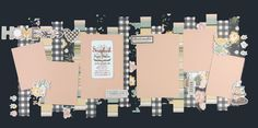 Photo Layouts, Scrapbook Page Layouts, Scrapbook Pages, Scrapbooking Ideas, Christmas Town, Christmas Villages, Farmhouse Layout, Jungle Life, Good Day Sunshine