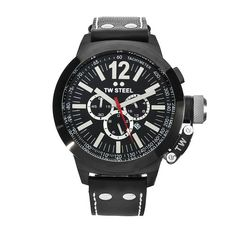 Men's Wrist Watches - TW Steel Mens CE1034 CEO Canteen Black Leather Chronograph Dial Watch ** Want additional info? Click on the image.