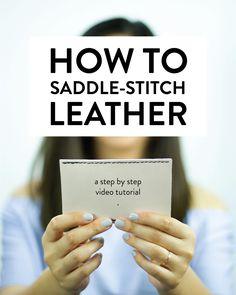 How to saddle-stitch leather - clothstory.com