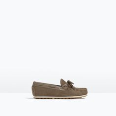 ZARA - KIDS - LEATHER LOAFERS WITH BOW