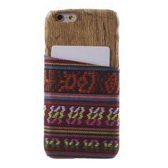 Tribal Style Cloth Card Wood Case