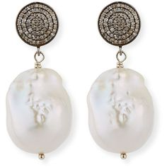 Margo Morrison Baroque Pearl (33.505 RUB) ❤ liked on Polyvore featuring jewelry, earrings, round drop earrings, swarovski crystal earrings, baroque jewelry, pave diamond drop earrings and baroque earrings