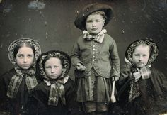 Children in the 1850s; 1/4 plate dag