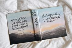 **please read below before you place your order & write every detail you want your bible in the notes to seller at checkout as this is what I refer to when creating your bible** This is a listing for a hand painted bible in the mountain sunset theme. HOW IT WORKS: 1. CHOOSE YOUR THEME.