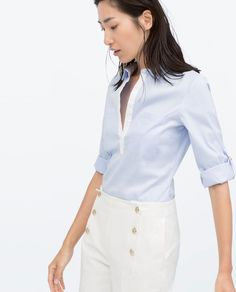 Discover the new ZARA collection online. The latest trends for Woman, Man, Kids and next season's ad campaigns. Zara Tops, Boutique Zara, Nerd Fashion, Professional Women, Zara Women, Maternity Fashion, My Wardrobe, Dress To Impress, What To Wear