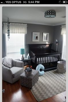 Here's an example of the colors I'm looking for with a dark crib...