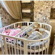 40 Ideas For Baby Nursery Twins Children - Modern Twin Baby Rooms, Twin Babies, Baby Bedroom, Baby Room Decor, Kids Bedroom, Twin Baby Beds, Twin Nurseries, Baby Cribs For Twins, Kids Bedroom Ideas