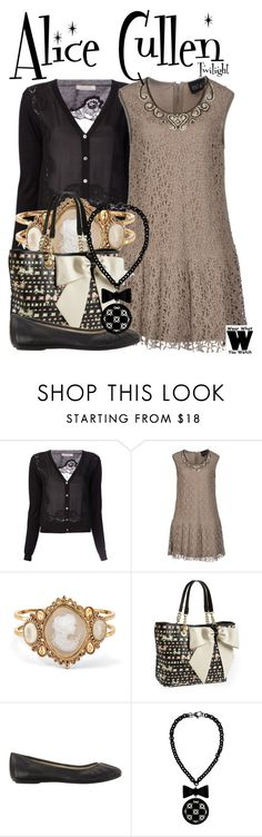"""""""Twilight"""" by wearwhatyouwatch ❤ liked on Polyvore featuring Nina Ricci, Twin-Set, Palm Beach Jewelry, Betsey Johnson, Nine West, Jozica, wearwhatyouwatch and film"""