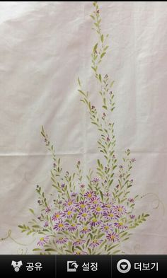 Dress Painting, Fabric Painting, Fabric Art, Fabric Paint Designs, Fabric Design, Hand Painted Sarees, Flower Tattoo Designs, Hand Embroidery Designs, Chinese Painting