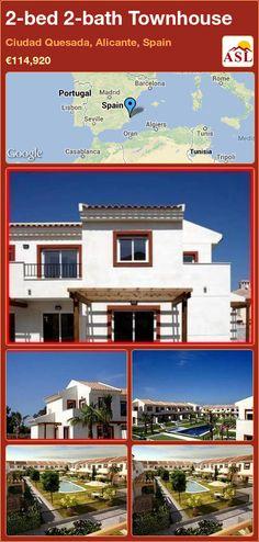 2-bed 2-bath Townhouse in Ciudad Quesada, Alicante, Spain ►€114,920 #PropertyForSaleInSpain