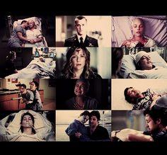 Izzie's Cancer, George's Death, Callie's Car Crash, Derek Getting Shot, Meredith Drowning...