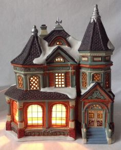 Christmas Village Houses.Pinterest