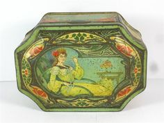 Old Shop Stuff | Old-biscuit-tin-Art-Nouveau for sale (18156)