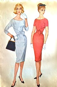 Details from McCall's dress pattern, 1960s (from my personal collection - hollyhocksandtulips)