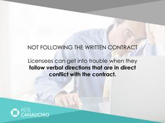 PeteCanalichio.com. Licensees may be pressured to comply with the verbal directions that are in direct conflict with the contract.They can later be held liable for breaching the contract and penalized. Learn from the common pitfalls of brand licensing discussed here so that you do not suffer as a result of ignorance. Grab Valuable Resources from Brand Licensing Experts for 100% Free Today. Visit: http://PeteCanalichio.com/fast-track.