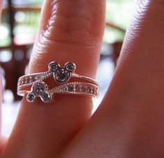 cute disney wedding rings at finger Disney Wedding Rings for Princesses