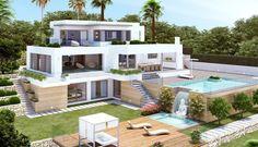 Porticholl - Javea Magnificent modern villa for sale with stunning sea views over the picturesque Porticholl Island. Property Finder, Property For Sale, Moraira, Costa, Terrace, Beautiful Homes, Sims, Villa, Backyard