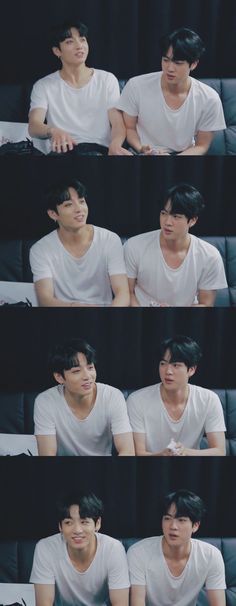 With their hair like that and the same shirt side by side, they look related