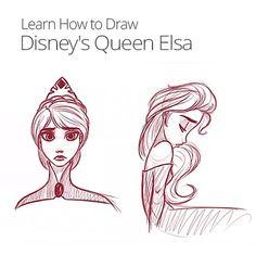 How to Draw Disney's Queen Elsa