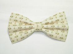 Mens Jade Pre-Tied Cotton Bow Tie On Adjustable Twill Strap
