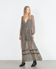 ZARA - COLLECTION AW15 - LONG PRINTED DRESS