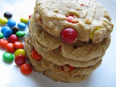 Peanut butter and M cookies