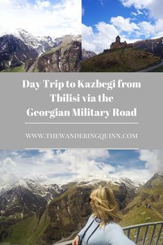Day Trip to Kazbegi from Tbilisi via the Georgian Military Road. Whilst in Tbilisi, Georgia I took a day trip to the Kazbegi Mountain via the Georgian Military Road and it was such a good day! It was easy to book and easy to do in one day! Here's how I booked it and what we did! #georgia #europe #tbilisi #kazbegimountain #kazbegi