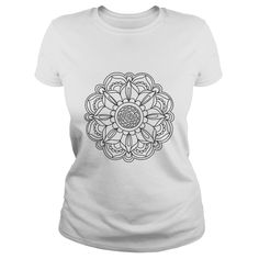 Color Your Own T-Shirt 【ᗑ】 (3)Color Your Own Mandala T-Shirt using fabric markers or SharpiesMandala Coloring