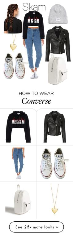 """""""Skam"""" by mashask on Polyvore featuring LullaBellz, Wrangler, MSGM, Converse, Forever 21 and IRO"""