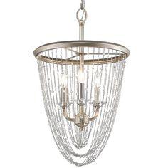Crystal Cascade 3-Light Pendant Light