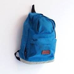 Vintage blue backpack
