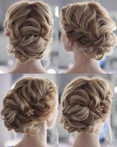 Tonya Pushkareva Long Wedding Hairstyle for Bridal via tonyastylist / http://www.himisspuff.com/long-wedding-hairstyle-ideas-from-tonya-pushkareva/15/