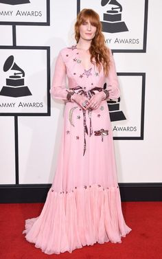 Grammys 2016 - Florence Welch in Gucci