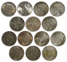 Lot 33: Peace $1 Assortment; (14) coins including 1922, 1922-S, (4) 1923, 1923-D, 1923-S, 1924, 1925, 1926, 1927-D, 1928-S and 1935