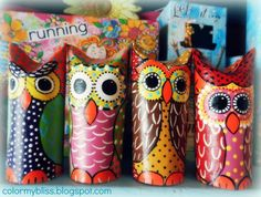 Color My Bliss: Toilet Paper Owls are Fun to Make!