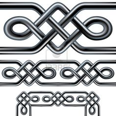 Illustration of Seamless Celtic rope design element. Complex interlocking stainless steel tubes in a repeatable tribal pattern than can be used as a frame, background, or border design. vector art, clipart and stock vectors. Celtic Quilt, Celtic Symbols, Celtic Art, Celtic Tribal, Mayan Symbols, Egyptian Symbols, Ancient Symbols, Border Pattern, Border Design
