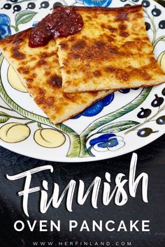 Finnish Oven Pancake: Favorite Homey Dessert in Finland Finnish oven pancake is the most beloved Finnish homey dessert. Learn how to make this super easy treat! Breakfast Recipes, Dessert Recipes, Desserts, Breakfast Ideas, Breakfast Time, Finnish Pancakes, Finland Food, Finland Travel, Gastronomia