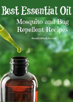 Best Essential Oil Mosquito and Bug Repellent Recipes; ward off mosquitos and bugs with these essential oil recipes for around the house, and personal use.